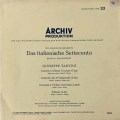 バウムガルトナー&ニコレらの18世紀イタリア音楽 独ARCHIV 2828 LP レコード