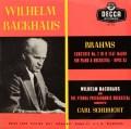 バックハウス&シューリヒトのブラームス/ピアノ協奏曲第2番 英DECCA 2830 LP レコード