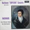 バックハウス&イッセルシュテットのベートーヴェン/ピアノ協奏曲第5番「皇帝」 英DECCA 2839 LP レコード