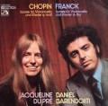 デュ・プレ&バレンボイムのショパン&フランク/チェロソナタ集 独EMI 2849 LP レコード