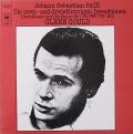 グールドのバッハ/インヴェンションとシンフォニア 独CBS 2816 LP レコード