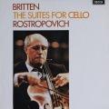 【オリジナル盤】ロストロポーヴィチのブリテン/無伴奏チェロ組曲第1&2番 英DECCA 2820 LP レコード