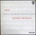 グリュミオーのバッハ/無伴奏ソナタとパルティータ 蘭PHILIPS 2901 LP レコード
