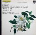 ハスキル&グリュミオーのモーツァルト/ヴァイオリンソナタ第40&42番 仏PHILIPS 2903 LP レコード