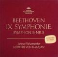 【オリジナル盤】カラヤンのベートーヴェン/交響曲第8&9番「合唱付き」 独DGG 2904 LP レコード