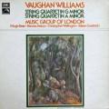 ミュージック・グループ・オブ・ロンドンのヴォーン・ウィリアムズ/ 弦楽四重奏曲第1&2番 英EMI 2911 LP レコード