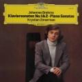 ツィマーマンのブラームス/ピアノ・ソナタ第1&2番 独DGG 2913 LP レコード