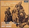 アンセルメのブラームス/ドイツ・レクイエム 英DECCA 2915 LP レコード