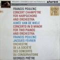 【オリジナル盤】プレートルのプーランク/2台のピアノのための協奏曲ほか 英HMV 2915 LP レコード
