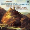 グリュミオー&シェベークのブラームス/ヴァイオリン・ソナタ第1番ほか 蘭PHILIPS 2915 LP レコード