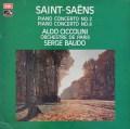 チッコリーニ&ボドのサン=サーンス/ピアノ協奏曲第2&4番 英EMI 2919 LP レコード