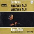 【オリジナル盤】ワルターのベートーヴェン/交響曲第9&8番 蘭PHILIPS 2921 LP レコード