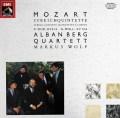 アルバン・ベルク四重奏団&ヴォルフのモーツァルト/弦楽五重奏曲第3&4番 独EMI 2921 LP レコード