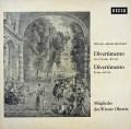 ウィーン・オクテットのメンバーによるモーツァルト/ディヴェルティメント第17番ほか  独DECCA 2921 LP レコード