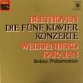 ワイセンベルク&カラヤンのベートーヴェン/ピアノ協奏曲全集   独EMI 2921 LP レコード