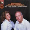 ムター&ワイセンベルクのブラームス/ヴァイオリンソナタ集   独EMI 2921 LP レコード