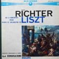 リヒテル&コンドラシンのリスト/ピアノ協奏曲第1&2番 仏PHILIPS 2810 LP レコード