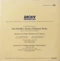 シュナイダーハン&バウムガルトナーのバッハ/ヴァイオリン協奏曲第1&2番ほか 独ARCHIV オリジナル盤 2810 LP レコード
