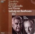 シュナーベル&フルニエのベートーヴェン/チェロソナタ全集 独EMI 2908 LP レコード