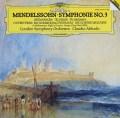 アバドのメンデルスゾーン/交響曲第3番「スコットランド」ほか 独DGG 2908 LP レコード