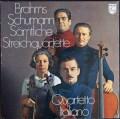 イタリア四重奏団のブラームス&シューマン/弦楽四重奏曲集 蘭PHILIPS  2912 LP レコード