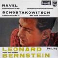 【オリジナル】バーンスタインのショスタコーヴィチ&ラヴェル/ピアノ協奏曲集  蘭PHILIPS  2920 LP レコード