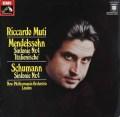 ムーティのメンデルスゾーン&シューマン/交響曲第4番 独EMI 2920 LP レコード