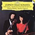 アルゲリッチ&マイスキーのバッハ/チェロ・ソナタ第1〜3番 独DGG 2920 LP レコード