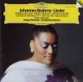 ノーマン&バレンボイムのブラームス/歌曲集 独DGG 2905 LP レコード