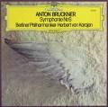 カラヤンのブルックナー/交響曲第6番 独DGG 2906 LP レコード