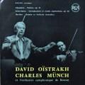 ミュンシュ&オイストラフのショーン/「詩曲」ほか(ミュンシュのサイン入り) 仏RCA 2703 LP レコード