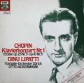 リパッティ&アッカーマンのショパン/ピアノ協奏曲第1番 独EMI 2906 LP レコード