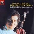 パールマン&ズッカーマンのバルトーク/44のヴァイオリン二重奏曲 独EMI 2916 LP レコード