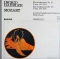 ヘブラーのモーツァルト/ピアノ協奏曲第11&13番 蘭PHILIPS 2916 LP レコード