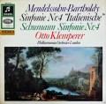 クレンペラーのメンデルスゾーン/交響曲第4番「イタリア」 独Columbia 2845 LP レコード