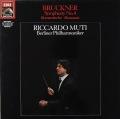 ムーティのブルックナー/交響曲第4番「ロマンティック」 独EMI 2819 LP レコード