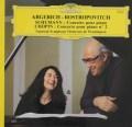 アルゲリッチ&ロストロポーヴィチのシューマン/ピアノ協奏曲、ショパン/ピアノ協奏曲第2番 仏DGG