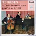 ロストロポーヴィチとリヒテルのベートーヴェン/チェロソナタ全集 蘭PHILIPS  2850 LP レコード