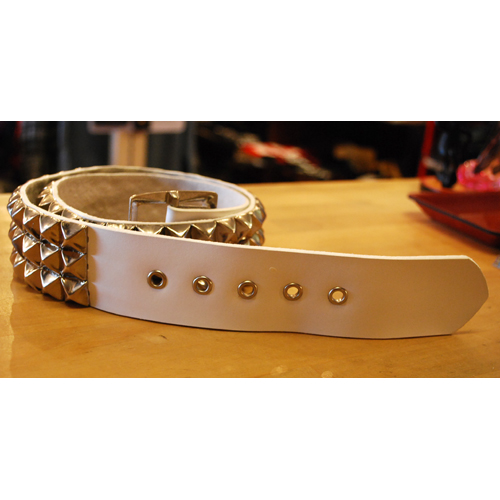 【IMPORT LA】THREE STUDS LEATHER BELT スタッズベルト