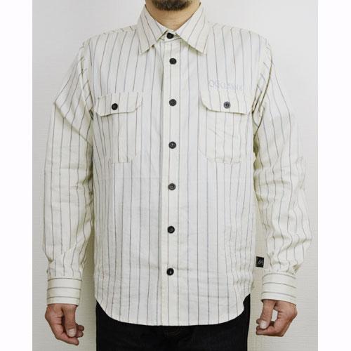 【OG CLASSIX/オージークラシックス】STRIPE DAY SHIRTS【長袖ボタンシャツ】【ストライプシャツ】