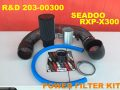 "【203-00300】R&D Pro Series 4"" Air Filter Kit Seadoo RXP-X300"