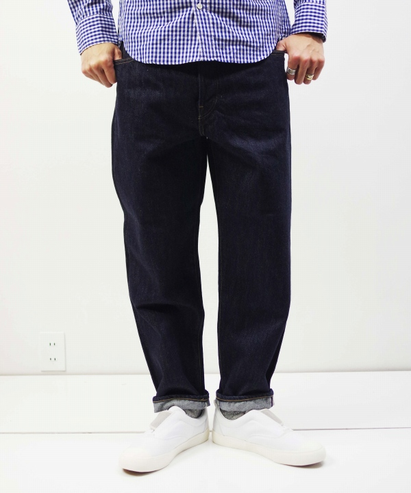 HATSKI/ハツキ Loose Tarperd Denim - One wash