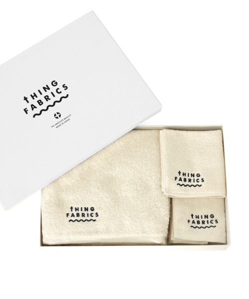 tHING FABRICS/シングファブリックス ORGANIC T100 towel Gift box