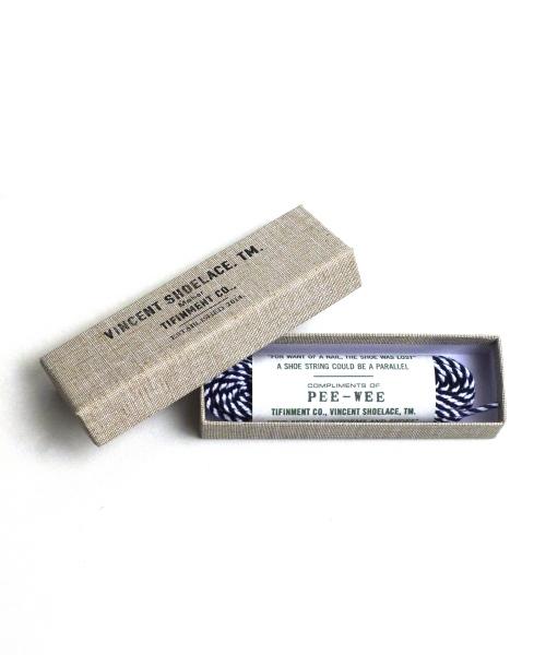 VINCENT SHOELACE / ヴィンセントシューレース PEE-WEE Blue Stripe