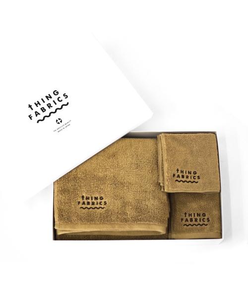 tHING FABRICS/シングファブリックス TIP TOP 365 towel Gift box - Khaki Beige