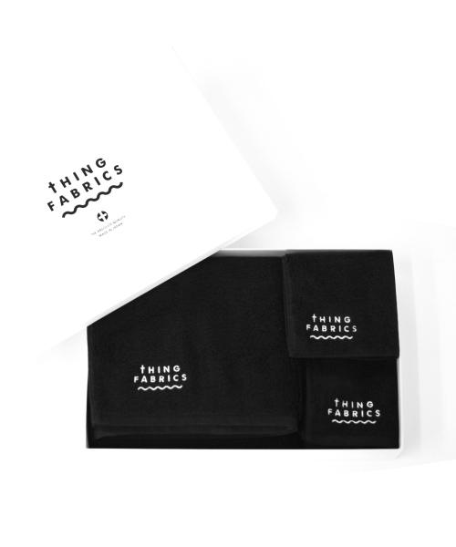 tHING FABRICS/シングファブリックス TIP TOP 365 towel Gift box - Black