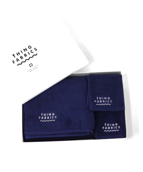 tHING FABRICS/シングファブリックス TIP TOP 365 towel Gift box - Navy 【MAPSの定番】