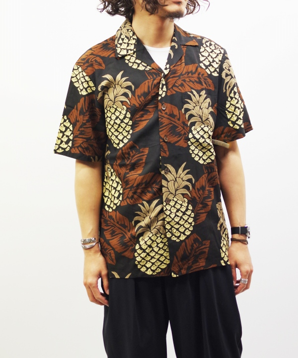 KALAHEO/カラヘオ WASHABLE RAYON ALOHA SHIRTS - BROWN