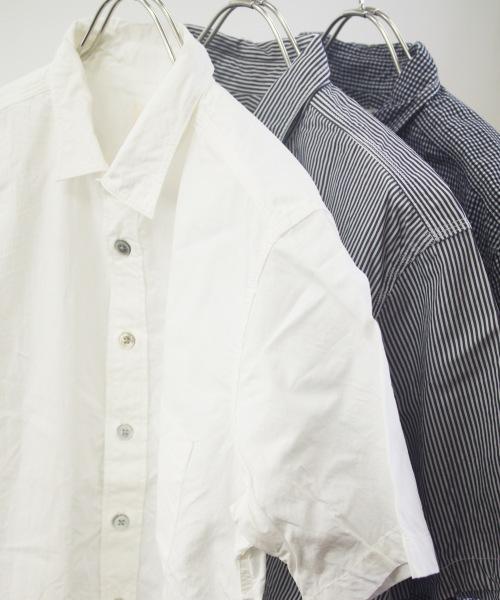 RINEN/リネン 80/2 ダウンプルーフ半袖レギュラーカラーシャツ