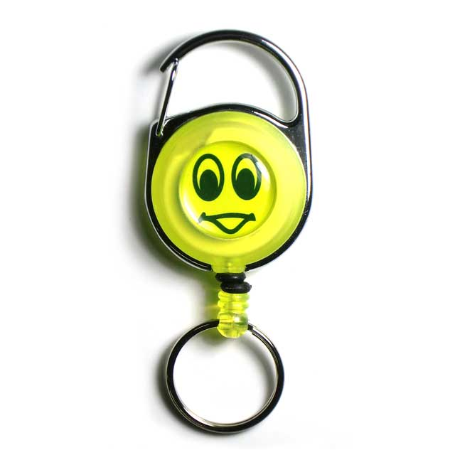 Reel key chain/Smile